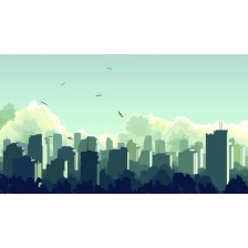Illustration of big city